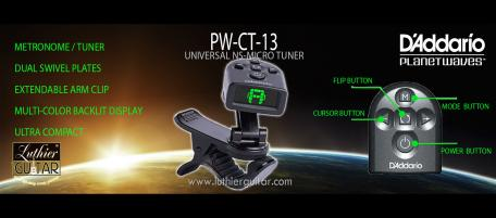 Planet Waves PW-CT-13 Micro NS Universal Stringed Instrument Clip On turner