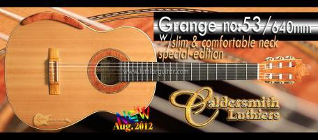 Luthier Guitar Caldersmith Grange 53 640mm Special